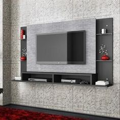 Wall tv stand awesome wall unit on wall home theaters wall stand designs corner wall mount . Tv Cabinet Design, Tv Wall Design, Tv Unit Design, Tv Unit Decor, Tv Wall Decor, Wall Art, Wall Tv Stand, Tv Wanddekor, Tv Wall Cabinets