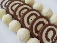 Rulada de biscuiti cu nuca de cocos (rollé tipo salame di cioccolato al cocco).