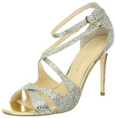 Ivanka Trump Women's Helice2 Sandal,Gold Glitter Mesh Material,10 M US