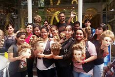 Super Enthusiastic students of Advance Hairdo Course with their latest ‪#‎Hair‬ creations, Join Us Enroll Now-http://bit.ly/29bjkJ6