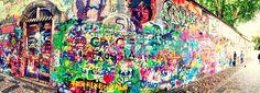 Praga - Muro Jonh Lennon