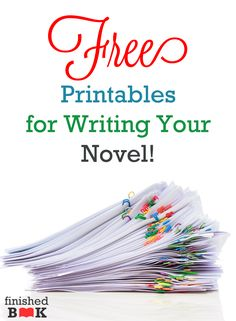 Are you interested in writing a novel but you don't want to start? Do you  learn by doing? Do you want easy-to-use worksheets to help novel writing  made sense?  I've pulled together a ton of FREEprintables for you. A few are mine, but  most of them are awesome resources that I've found around the Internet.  Story Ideas  Create a Writer's Notebook! This worksheet will inspire story seeds and  concepts.  Click here to download the printable.  Character Creation  This series of worksheets…