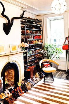 because seeing shoes makes me happy.    http://becauseimaddicted.net/2011/09/peek-inside-jenna-lyons-brooklyn-home.html