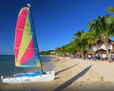 Sail the day away in the beautiful Mexican waters at Sunscape Sabor Cozumel!