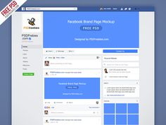 Freebie : Facebook New Brand Page 2016 Mockup PSD
