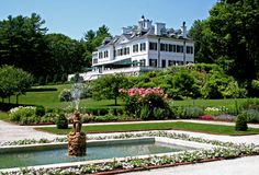 Massachusetts. The Mount, Home of Edith Wharton.  Lenox, Massachusetts... http://www.edithwharton.org/visit-2/hours-admission-and-tours/