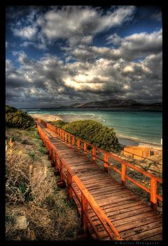 Wooden Boardwalk to the clouds.