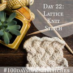 How to knit the lovely lattice knit stitch!