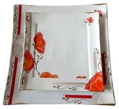 Plus Pottery Painting, Ceramic Painting, Ceramic Poppies, Engraved Plates, Square Plates, Colouring Techniques, Sgraffito, China Painting, Arabesque