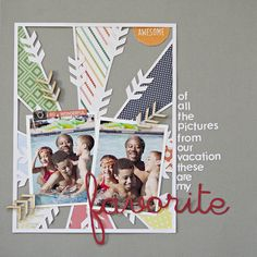 I made this page last week:        I made it with the Roller Rink kit from Studio Calico. The arrow cameo file is made by Kinsey Wilson .  ...