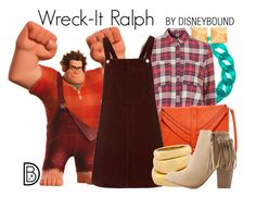 """""""Wreck-It Ralph"""" by leslieakay ❤ liked on Polyvore featuring DIANA BROUSSARD, RALPH, Itsy Bitsy, Topshop, Big Buddha, Henri Bendel, Charlotte Russe, disney, disneybound and disneycharacter"""