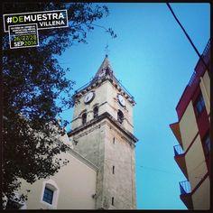 Santa María desde la Calle Mayor #DeMuestraVillena  www.muestravillena.villena.es www.facebook.com/Muestravillena @muestravillena