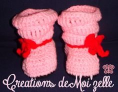Type; Pantoufles - Modèle #6 Fermeture; Aucune Accessoire; Boucle rouge  * Possibilité de les faire de couleur différentes, de tailles différentes & avec des accessoires différents.*