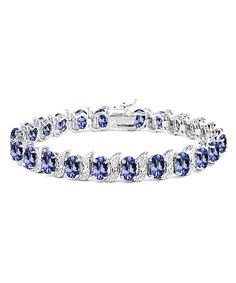 Tanzanite & Diamond Tennis Bracelet | zulily