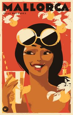 "Echa un vistazo a este proyecto @Behance:""Mallorca Posters"" https://www.behance.net/gallery/56101075/Mallorca-Posters"
