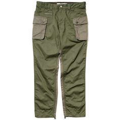 White Mountaineering Washed Fade Cotton Twill Cargo Pants