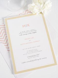 Gorgeous gold and blush wedding invitations | Shine Wedding Invitations