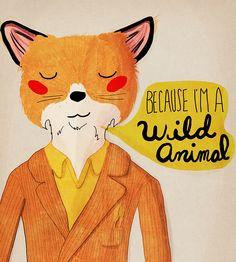 Because I'm a Wild Animal   Nan Lawson Studio
