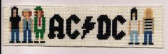ac dc cross stitch - I hate Cross stich, but Love AC/DC. would be good needlepointed as well.