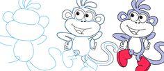 Como dibujar a Mono de Dora