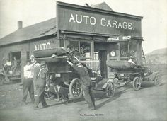 doyoulikevintage:  Iron Mountain, MI Ford Garage & bicycle...