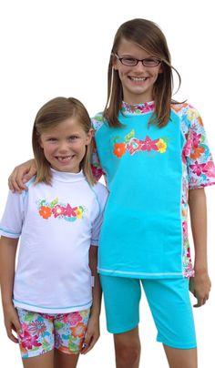 Solartex Sun Gear - Girls Rash Guard Swim Shirt and Shorts set -sizes 4-14, $44.90 (http://www.solartex.com/kids/girls-rash-guard-swim-shirt-and-shorts-set-sizes-4-14)