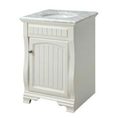 FEBO 24 in. Vanity Cabinet Only in White-F11-AE-017-002AV at The Home Depot - for downstairs half bath