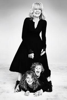 Diane Keaton with her sweet looking children