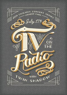 TV on the Radio hand lettering