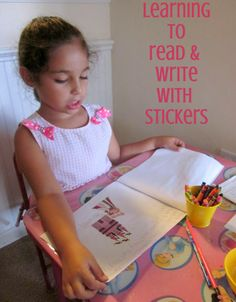 Write a story using stickers as illustrations.