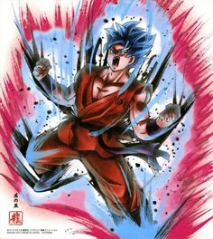Dragon Ball Shikishi Art Collection Goku Super Saiyan Blue Kaioken