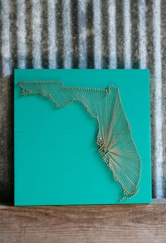 Florida Love // Reclaimed Wood Nail and String Art by cwrought, $110.00