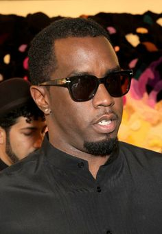 Diddy wearing vintage #persol sunglasses at Art Basel Miami 2013