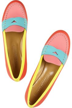 BECAUSE THEY MATCH THAT RUG.  marc jacobs loafers