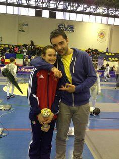 our foil coach Simone Mazzoni