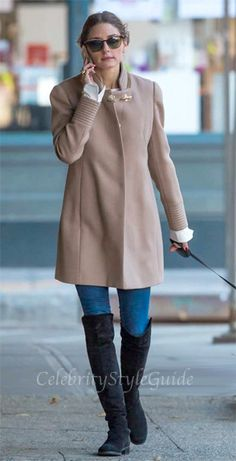 Seen on Celebrity Style Guide: Olivia Palermo wore this funnel neck coat out walking her dog in New York City November 19......http://rstyle.me/~10RkS & http://rstyle.me/n/dabgumxbn