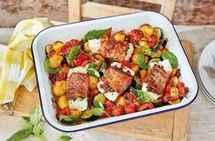 Cook up a simple but divine dinner with roasted monkfish and Parma ham - the ideal recipe for a special occasion. See more fish recipes at Tesco Real Food. Monkfish Recipes, Prawn Recipes, Ham Recipes, Curry Recipes, Seafood Recipes, Recipies, Veggie Recipes, Dinner Recipes, Healthy Recipes