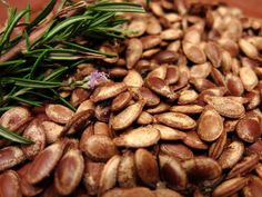 Rosemary Garlic Pumpkin Seeds   18 Ways To Make Pumpkin Seeds Delicious