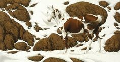 Bev Doolittle painting: A great optical illusion of horses blending in with the rocks and snow. Description from pinterest.com. I searched for this on bing.com/images
