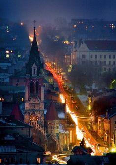 Вечірній Чортків Evening in Chortkiw, Ukraine