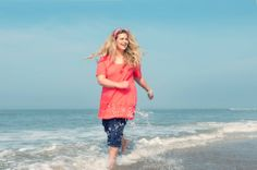 Racing by the Sea in X-two! | Tunic style 20302, $87.50 with style 20408 on the bottoms, $100. #fashion #summer #plussizefashion #curves #collection #beachwear