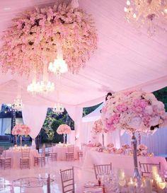 Soft shades of your wedding color make for an unforgettable venue. #pinkwedding