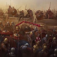 Image result for pawel kurowski adrianopolis Medieval World, Medieval Art, Ancient Rome, Ancient History, Fantasy Kunst, Fantasy Art, Dungeons And Dragons, Valhalla, Fantasy Battle