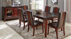 Browse quality formal dining room table sets at Rooms To Go. Huge selection featuring matching dining table and chair sets, perfect for formal dining room decor. Dining Room Sets, Dining Room Chairs, Dining Tables, Dining Area, Bar Table Sets, Table And Chair Sets, Bar Tables, Dining Room Furniture Sets, Furniture Stores