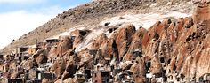 Kandovan Village is famous for its wonderful rocky architecture which is the result of volcanic activities and hand-carved structures. Iran Tourism, Iran Travel, Travel Cards, Travel Agency, Trekking, Monument Valley, Safari, Places To Visit, Wildlife