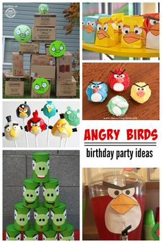 Angry Birds birthday party ideas for kids! So many great ideas here.
