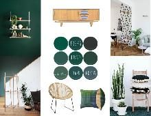 Forest hunter and other dark greens - SampleBoard Bavarian Forest, Famous Interior Designers, Latest Design Trends, Concept Board, Green Rooms, Mid Century House, Model Homes, Best Interior, Home Values