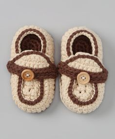 Cream Loafer Crochet Booties