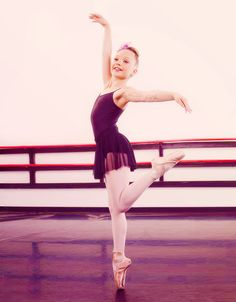It's amazing how dancers can balance on their toes like that!