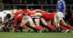 Rugby scrum--they don't wear pads and helmets like the players in American football Wales Rugby, Who Plays It, Visit Wales, Rugby Men, Six Nations, Popular Sports, Cymru, Red Dragon, American Football